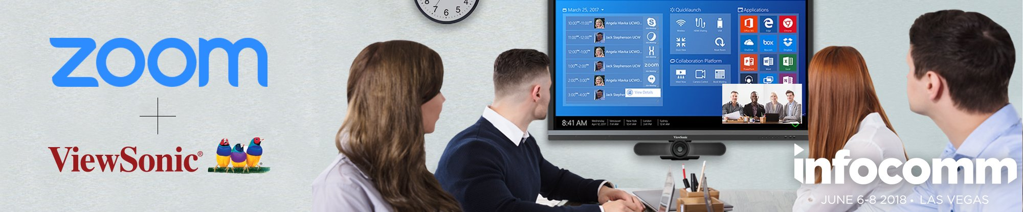 ViewSonic Integrates Zoom to Boost Workspace Collaboration -