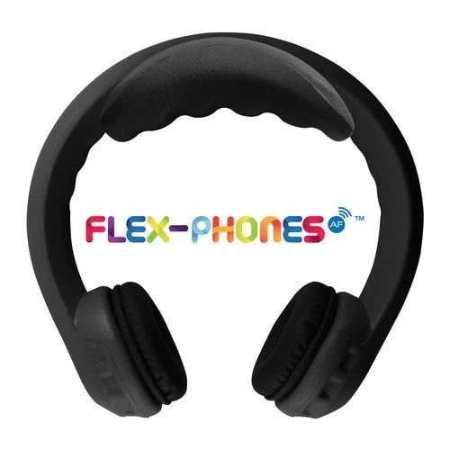 Hamilton FLEXW1BK FM Wireless Flex-Phones Dual-Channel Wireless Headphones For Kids - Black -